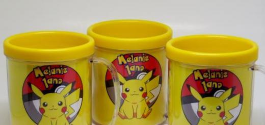 canecas do Pikachu