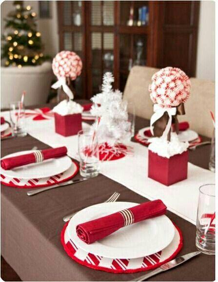 decoração branco e vermelho