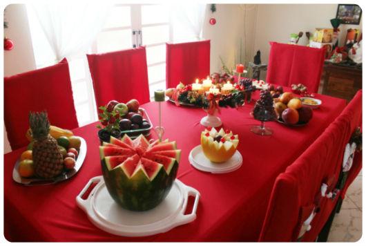 decoração simples com frutas