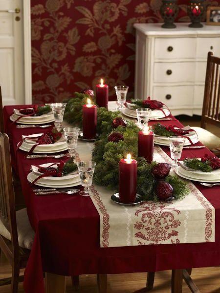 decoração vermelho e branco