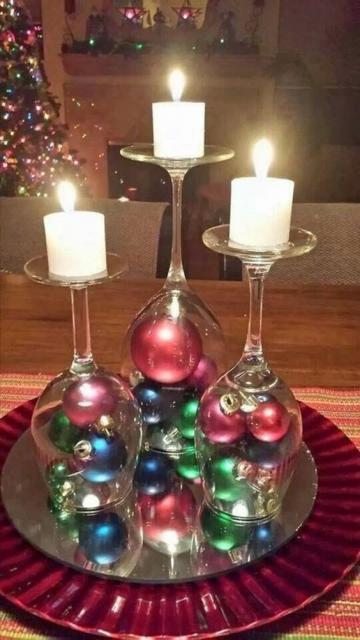 cetro de mesa com taças