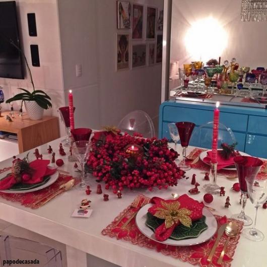 decoração mesa 4 lugares
