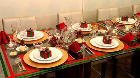 decoração mesa pequena