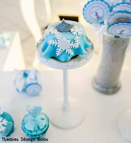 bolo miniatura Frozen