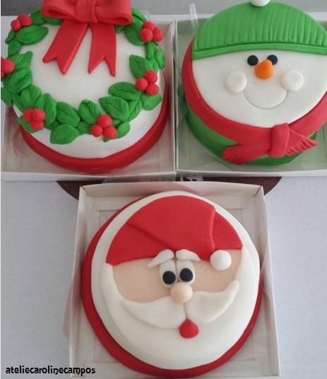 bolo temático natal