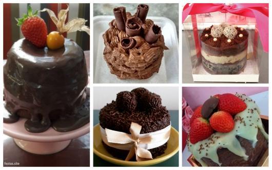 ideias bolo de chocolate