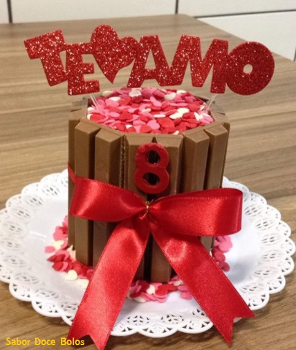 bolo romântico