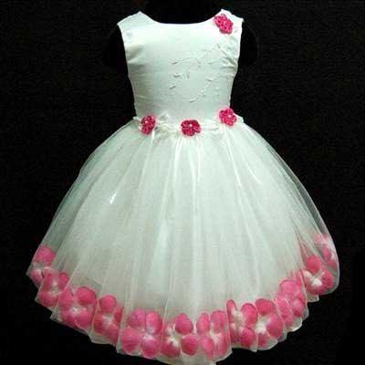 Vestido  infantil branco com flores