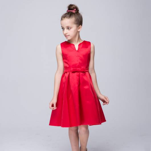 Vestido vermelho infantil simples