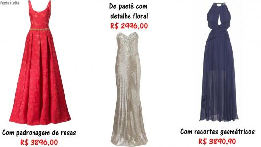 preços de vestidos de festa