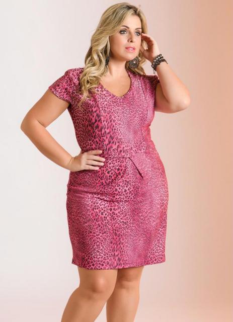 Vestido de formatura para baixinhas plus size rosa de oncinha