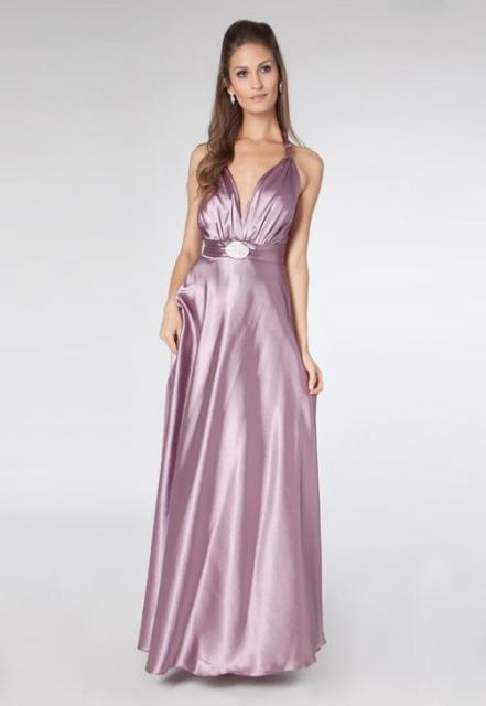 Vestido de formatura para baixinhas longo lilás