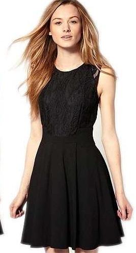 Vestido de formatura para baixinhas preto