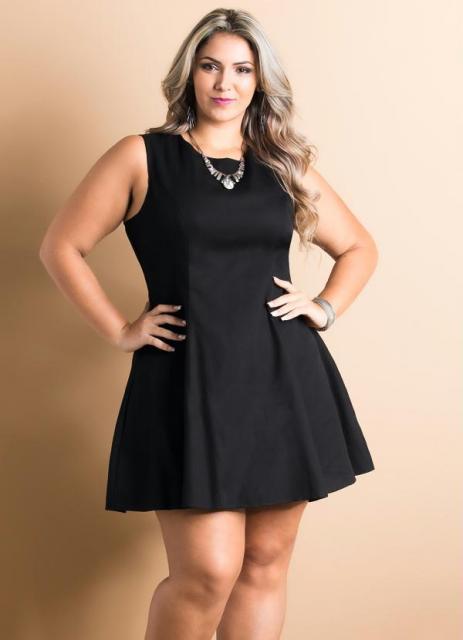 Vestido preto para foto formatura