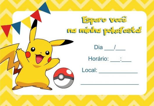 Convites Pokémon 30 Modelos Diferentes Como Fazer Em Casa