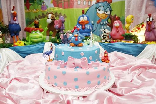 Foto do bolo e decoração do aniversário da filha da cantora Perlla.