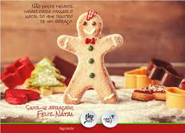 Mensagem com foto de biscoito de Natal.