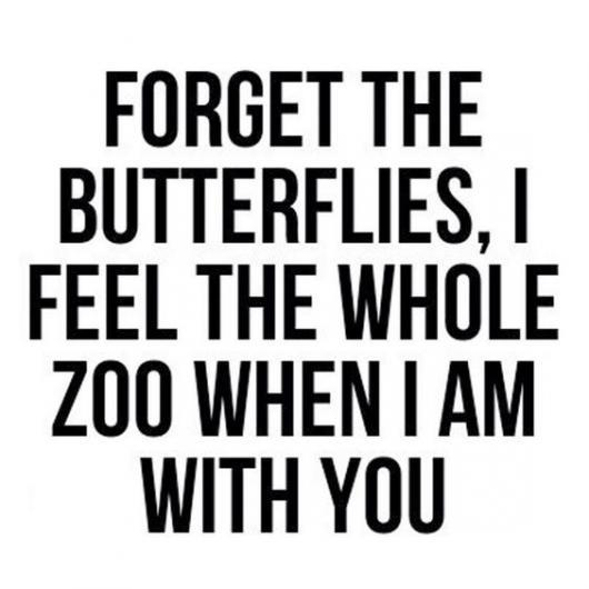 Mensagem romântica e divertida.