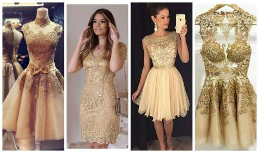 f0a05479e5 Vestido de Debutante Dourado  Mais de 30 Modelos para a sua Festa!
