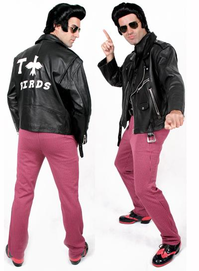 Fantasia anos 80 Rock preto e vermelho