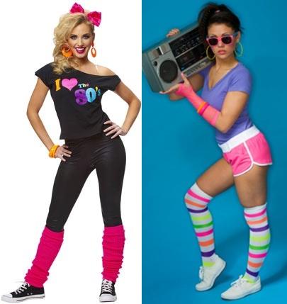 Fantasia anos 80 calça elástica