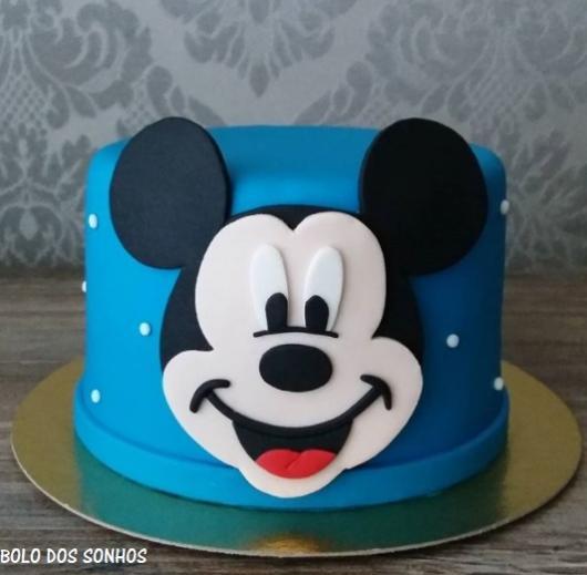 bolo azul mickey