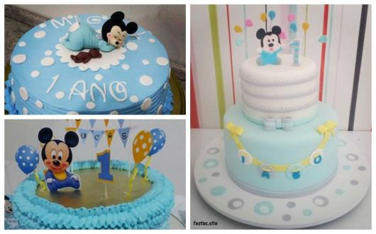 ideias para bolo azul
