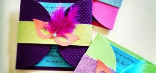 Convites de festa à fantasia EVA colorido