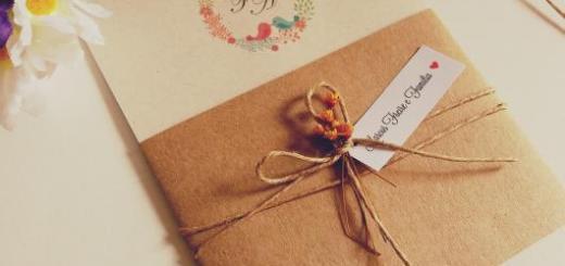 Convites de Noivado Simples rústico com laço