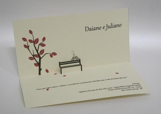 Convites de Noivado Simples minimalista com detalhe simples