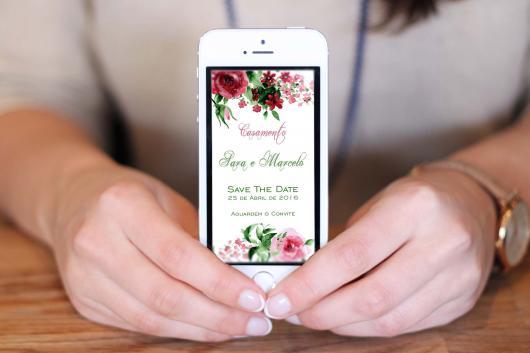 Convites de Noivado Simples para celular