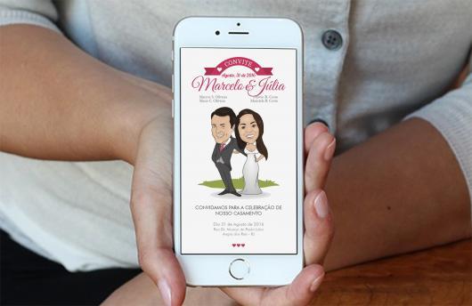 Convites de Noivado Simples para enviar pelo celular
