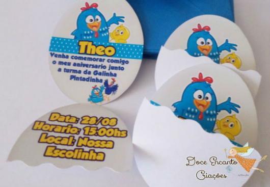 convite Pintinha Amarelinho