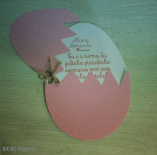 convite rosa ovo