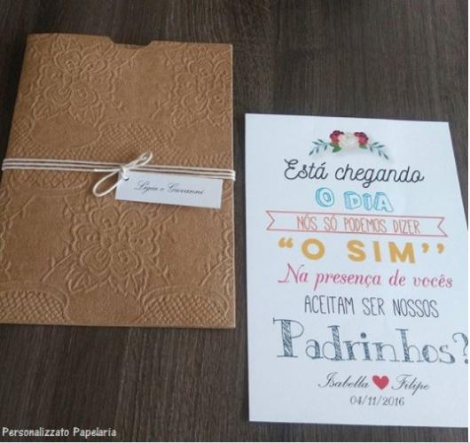 60 Convites Para Padrinhos De Casamento Lindíssimos Como Fazer