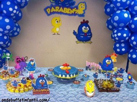 festa em casa Galinha Pintadinha