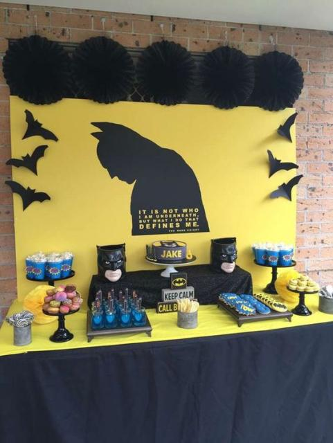 festa em casa Batman