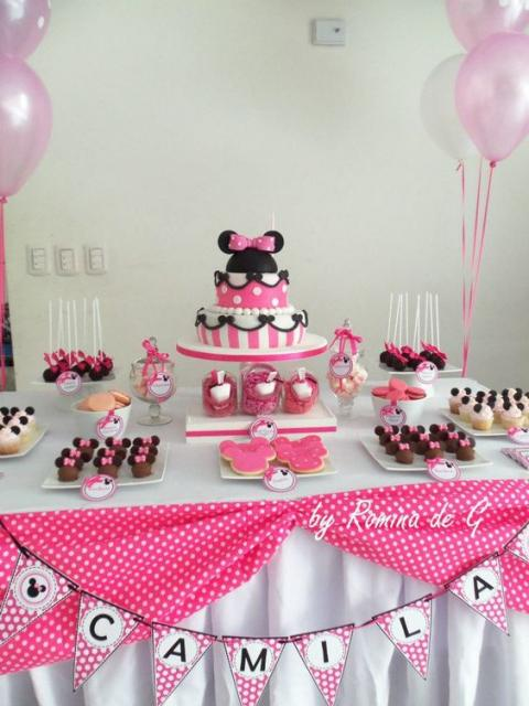 festa rosa simples