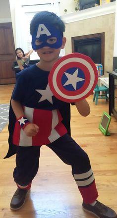 Fantasia Capitão América Infantil com capa