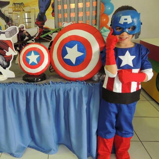 Fantasia Capitão América Infantil para festa de aniversario