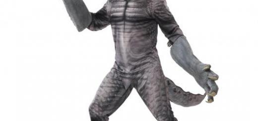 Fantasia de Dinossauro cinza realista