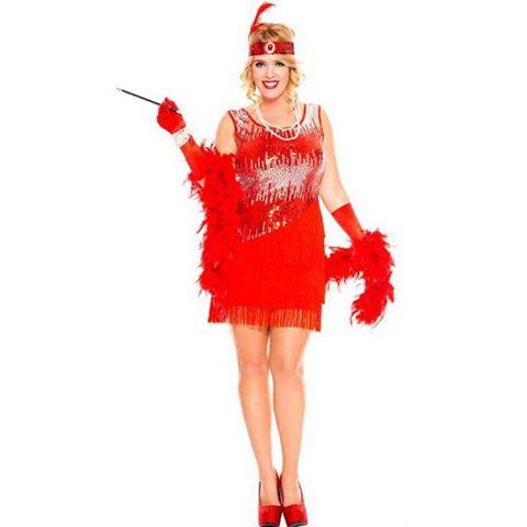 Fantasia melindrosa vestido vermelho