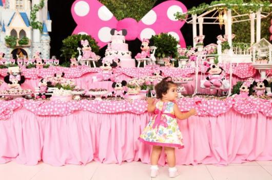 Festa da Minnie rosa criança de 1 ano