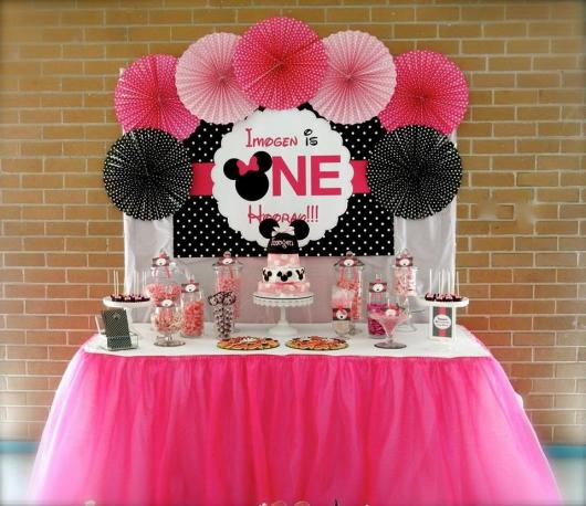 Festa da Minnie rosa simples