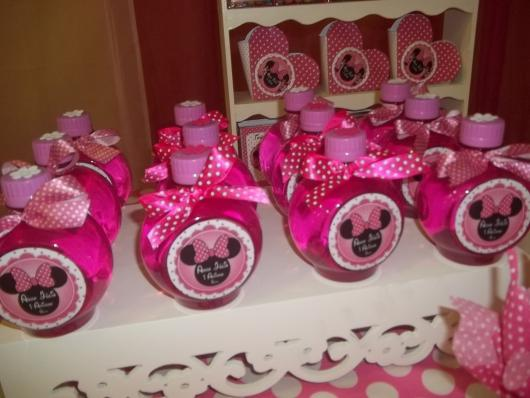 Festa da Minnie rosa garrafinha