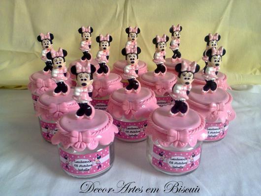 Festa da Minnie rosa potinhos de lembranças