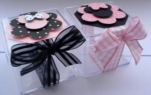 Festa da Minnie rosa caixinhas lembrancinhas