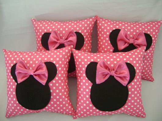 Festa da Minnie rosa almofadas de lembranças