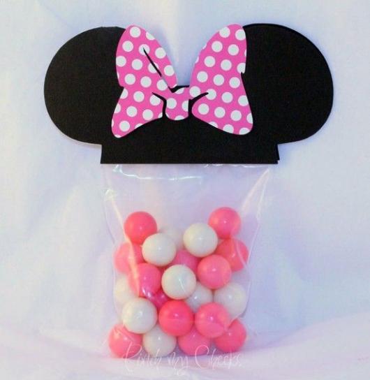 Festa da Minnie rosa doces de lembranças