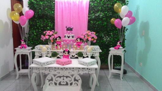Festa da Minnie rosa decoração provençal